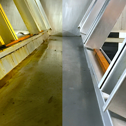 Duct Cleaning - Before And After Cleaning Image