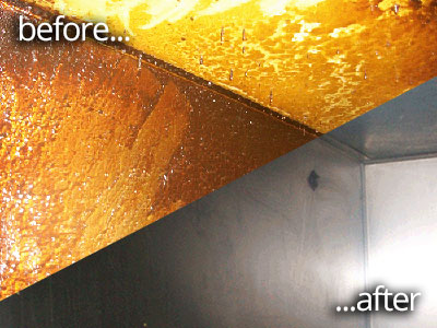 Duct Cleaning - Before And After Image